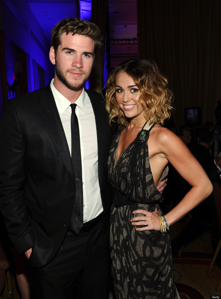 """Rumors were swirling that Miley Cyrus, 19, and Liam Hemsworth, 22, <a href=""""http://www.huffingtonpost.com/2012/03/25/miley-cy"""
