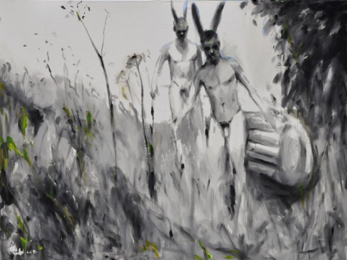 Andrej Dubravsky,Valuable content, acrylic on canvas, 150 x 200 cm, 2011
