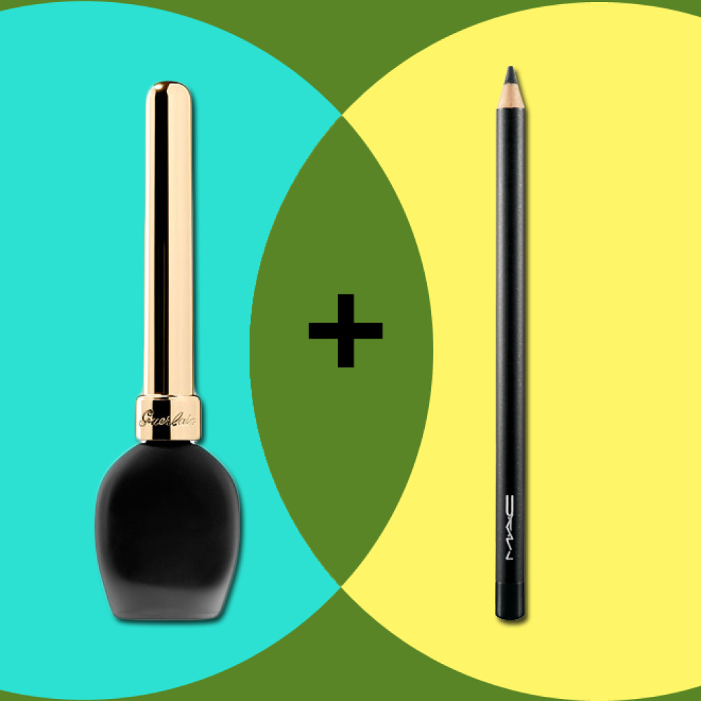 The secret to making your eyelashes look thicker is all in the liner. First, I use the pencil to line my eyelids for a slight