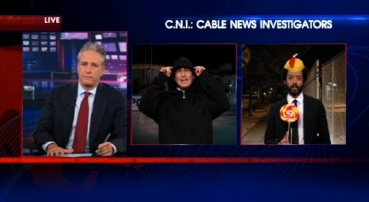 """John Oliver <a href=""""http://gtcha.me/GRkuOo"""" target=""""_blank"""">wears a hoodie in solidarity with Trayvon Martin</a>, but Wyatt"""