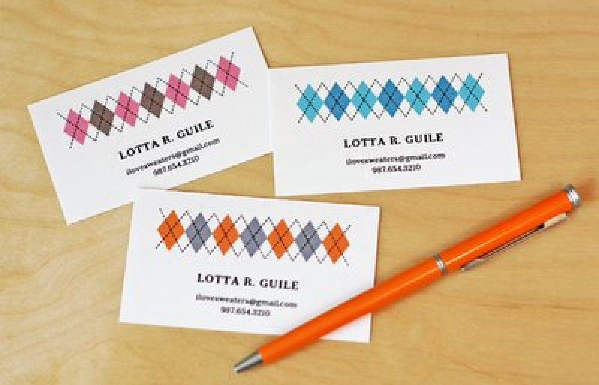 11 free printable business cards you can make at home huffpost printable business cards theres just something so effortless and classy about argyle these preppy printables by a fbccfo Image collections