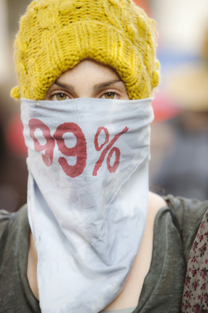 Ted Soqui, 'Sarah', Photograph of Sarah at a Occupy LA protest in downtown Los Angeles., 2011