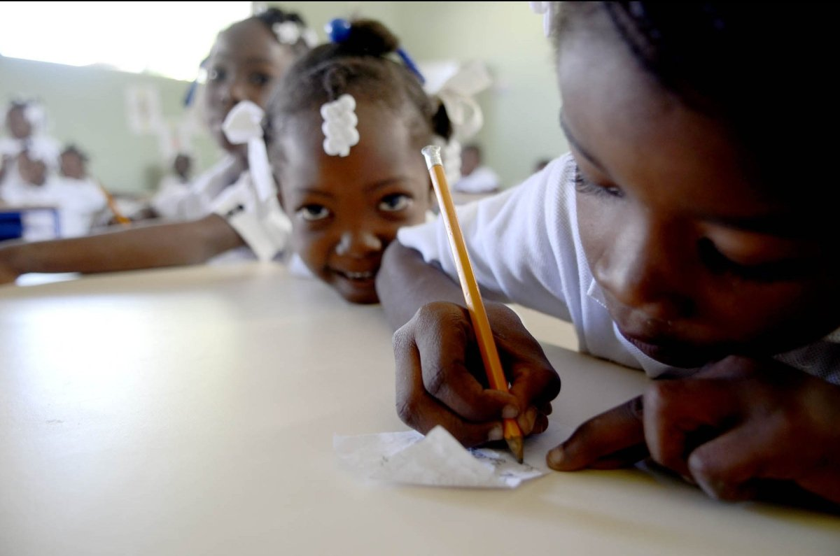 Students in the Fond Parisien, Haiti, pre-school. One of the guiding values of JRS is compassion. JRS sees our service as a c