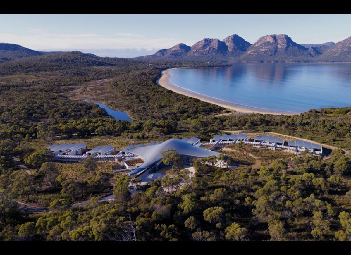 This Mars-like expanse was designed by award-winning architects native to Tasmania. The property concept was inspired by the