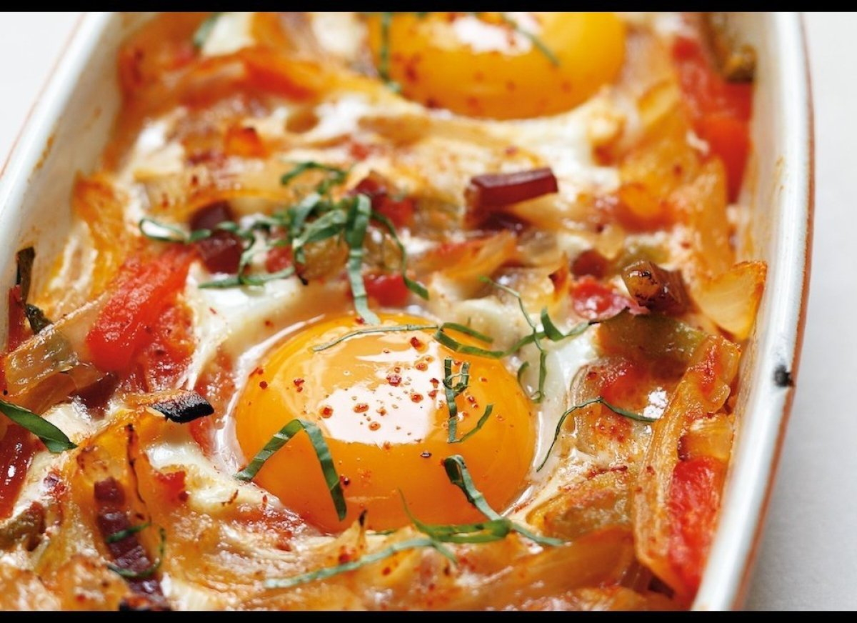 Here the great Alain Ducasse shares with us his recipe for Basque-style eggs. Serve these with nice fresh slices of whole-whe