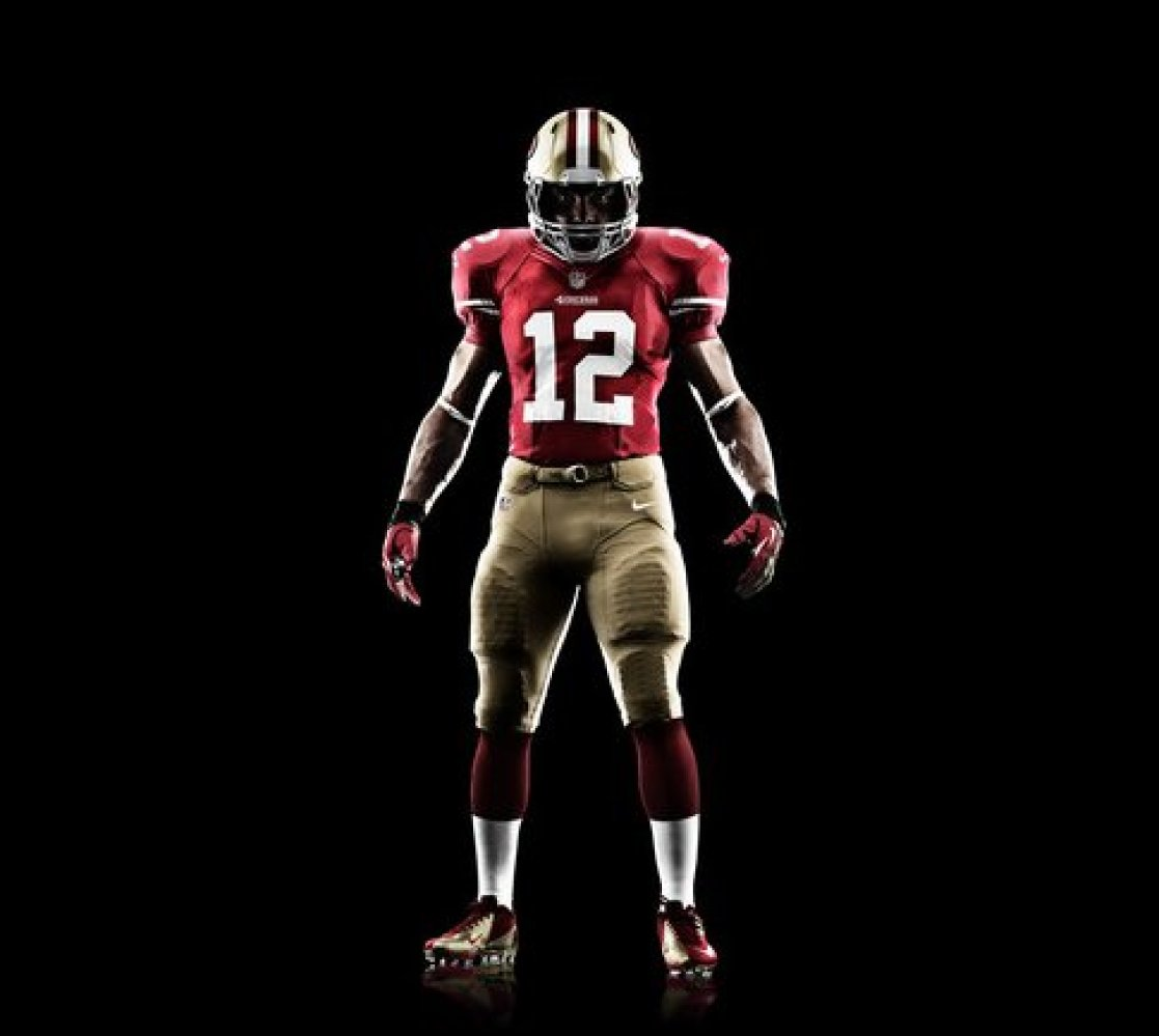 newest 81125 67847 49ers home jersey color