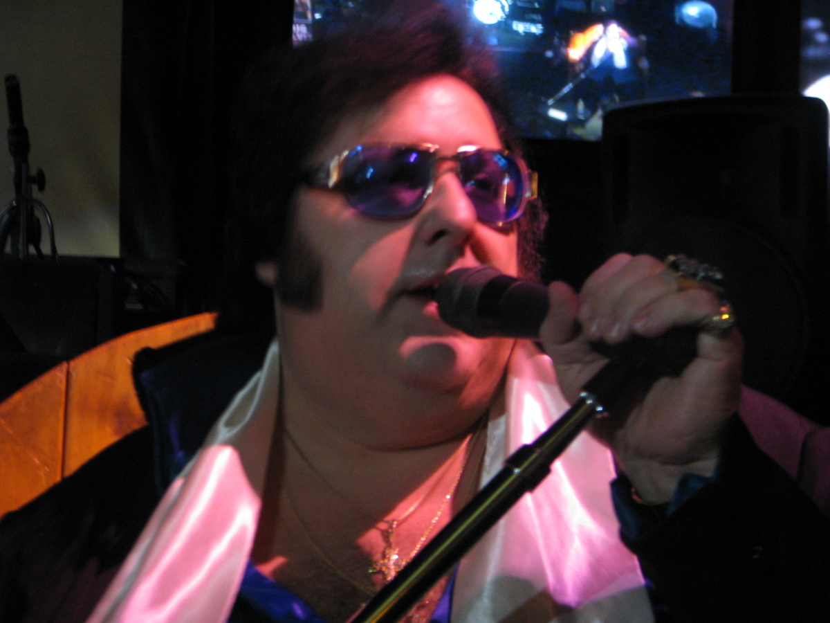 Big Elvis belts out a few classics during a recent performance at Bill's Gamblin' Hall And Saloon in Las Vegas.