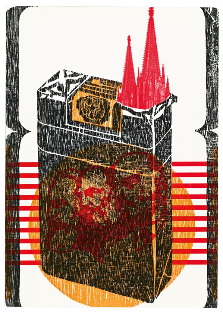 Klaus Staek, Kölner Dom - für raucher (1969). Collection of Jeremy Cooper.