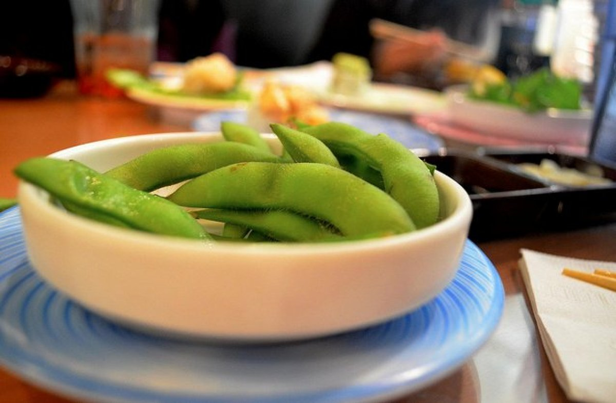 Before you make an appetizer out of those delicious fiber-packed soybeans, ask how the pods have been prepared. If the answer