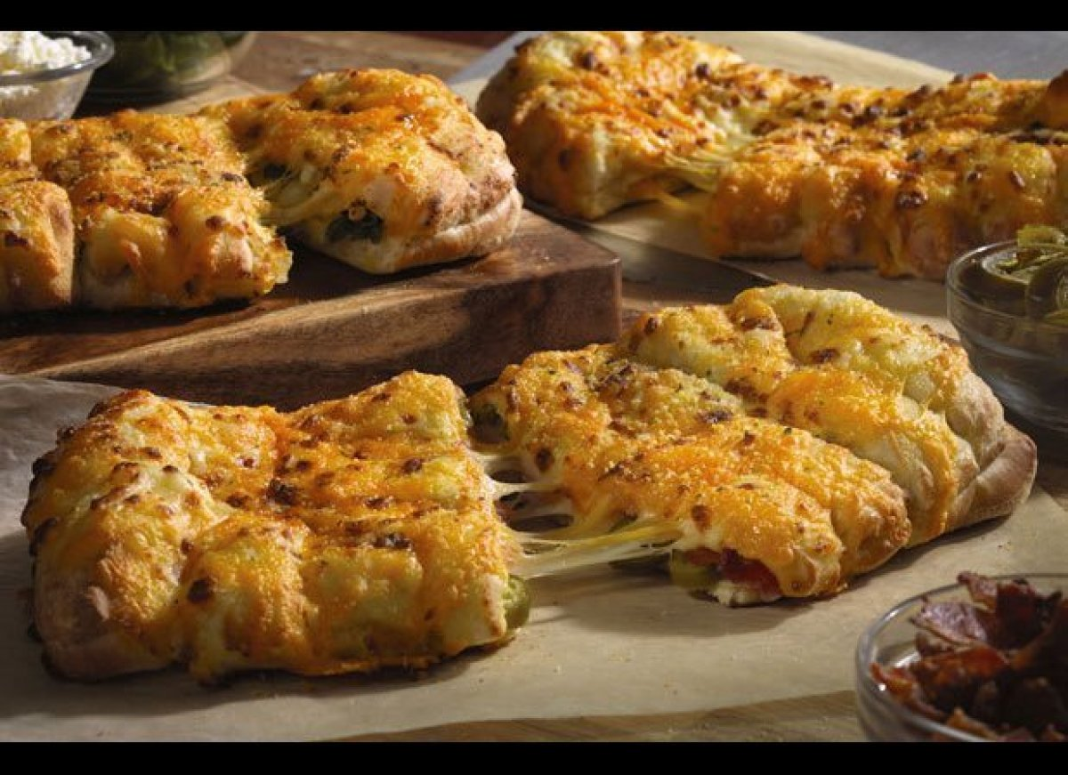"Plain old stuffed crust? That's so last decade -- at least according to <a href=""http://www.thedailymeal.com/dominos-ipad-app"