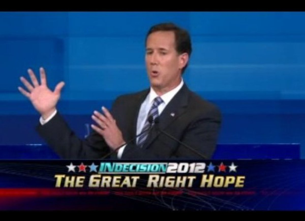 "Jon Stewart explains Rick Santorum's <a href=""http://gtcha.me/q0M8HF"" target=""_blank"">complex views on ""Don't Ask, Don't Tell"