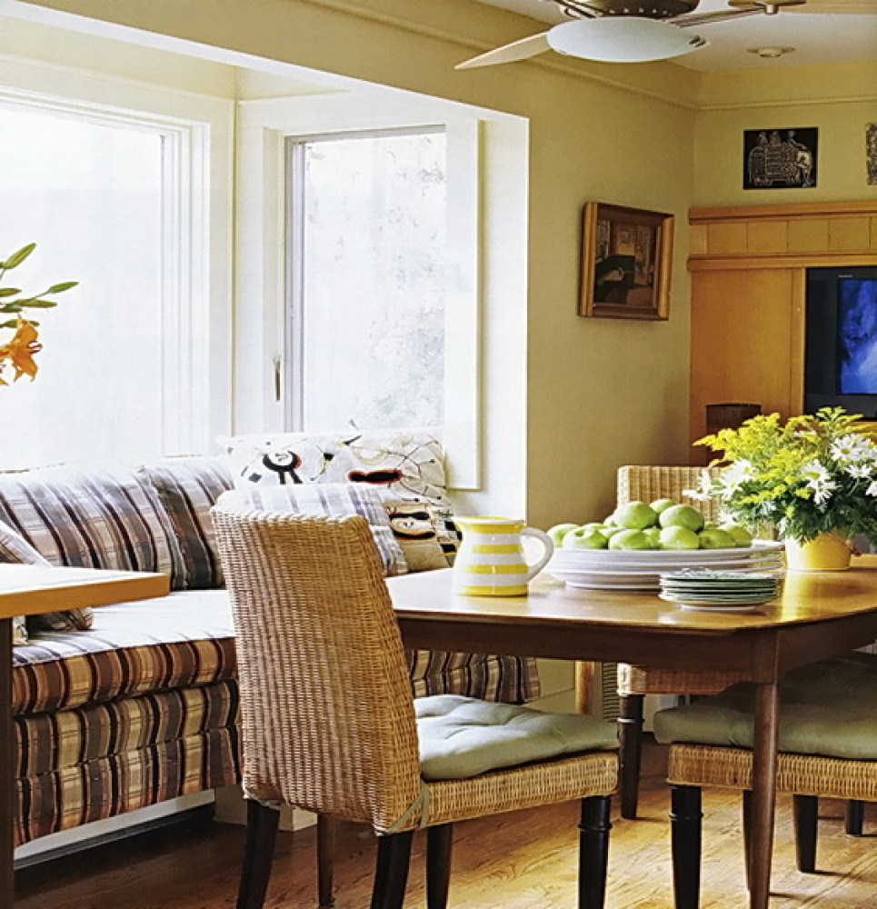 We Love How Much Natural Light Pours Into This Sunny Breakfast Nook A Cozy Couch