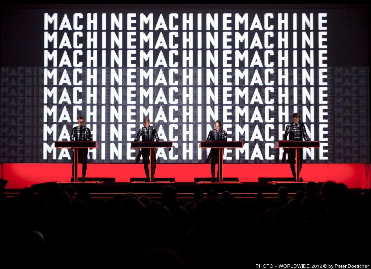 Kraftwerk performing at The Museum of Modern Art.