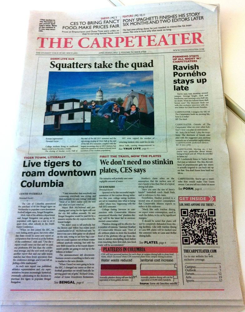 """The University of Missouri's student newspaper, <a href=""""http://www.themaneater.com/"""" target=""""_hplink""""><em>The Maneater</em><"""