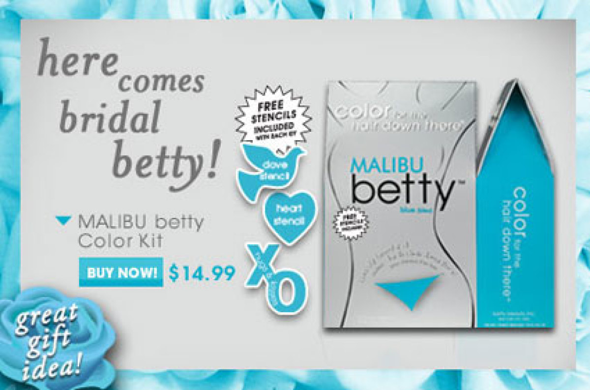 "<a href=""http://www.bettybeauty.com/"" target=""_hplink"">Betty Beauty </a>sells pubic hair dye in so many colors your vagina ca"