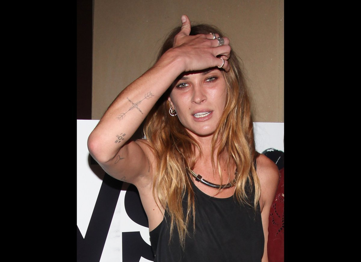 "Model Erin Wasson attends ""The Heimlich Maneuver"" screening at Soho Grand Hotel in NYC on June 27, 2012
