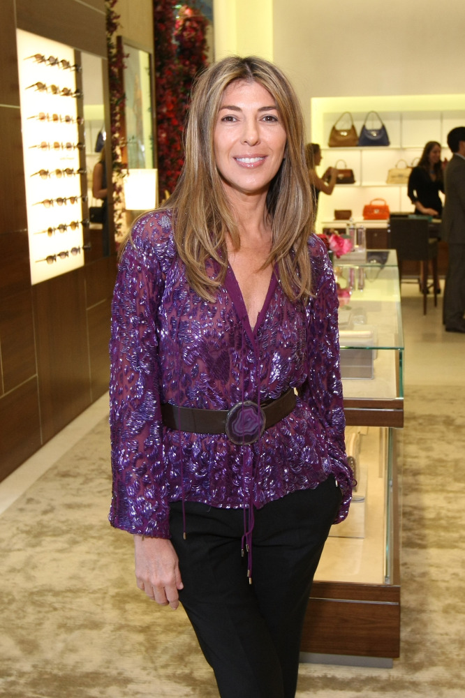 NEW YORK, NY - APRIL 12: MSKCC Chairman Nina Garcia attends the Ferragamo Fifth Avenue Flagship Re-Opening at Salvatore Ferra