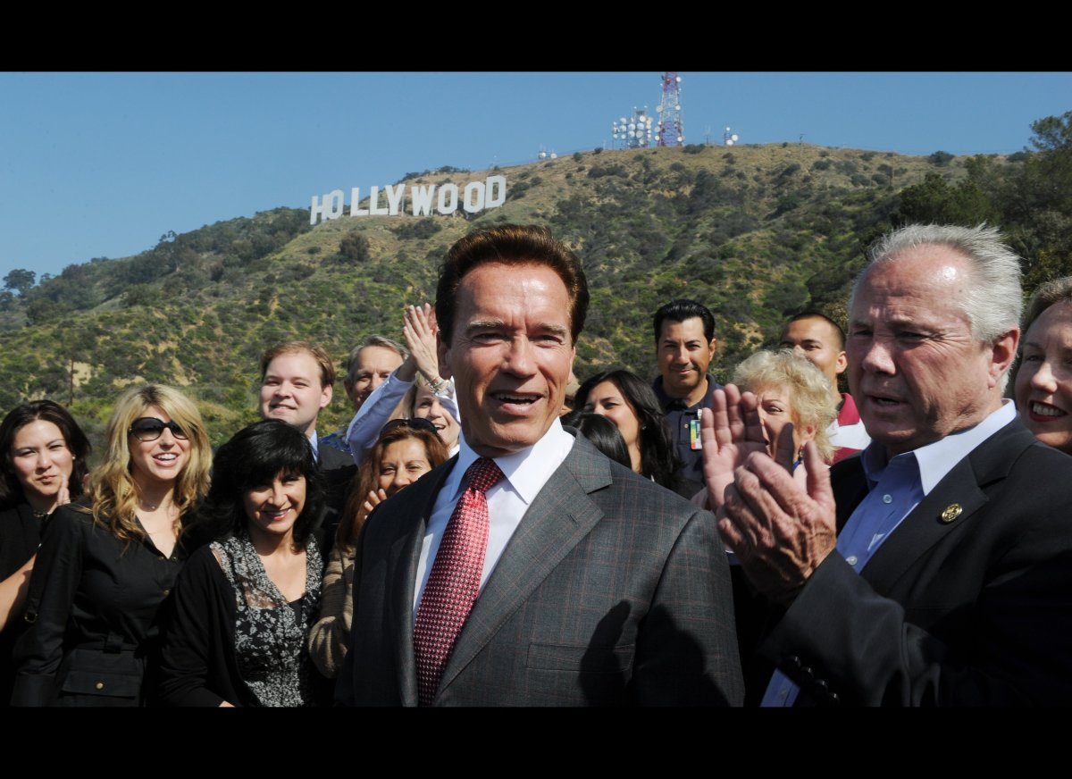 In 2004, former governor of California, Arnold Schwarzenegger, looked like his old film hero self when he saved a man from dr