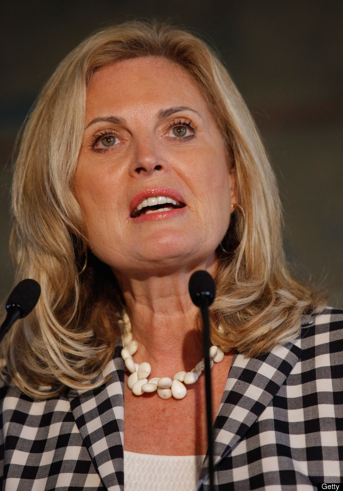 Ann Romney addresses a US-Cuba Democracy political action committee event on Jan. 25, 2012, in Miami. (Photo by Chip Somodevi