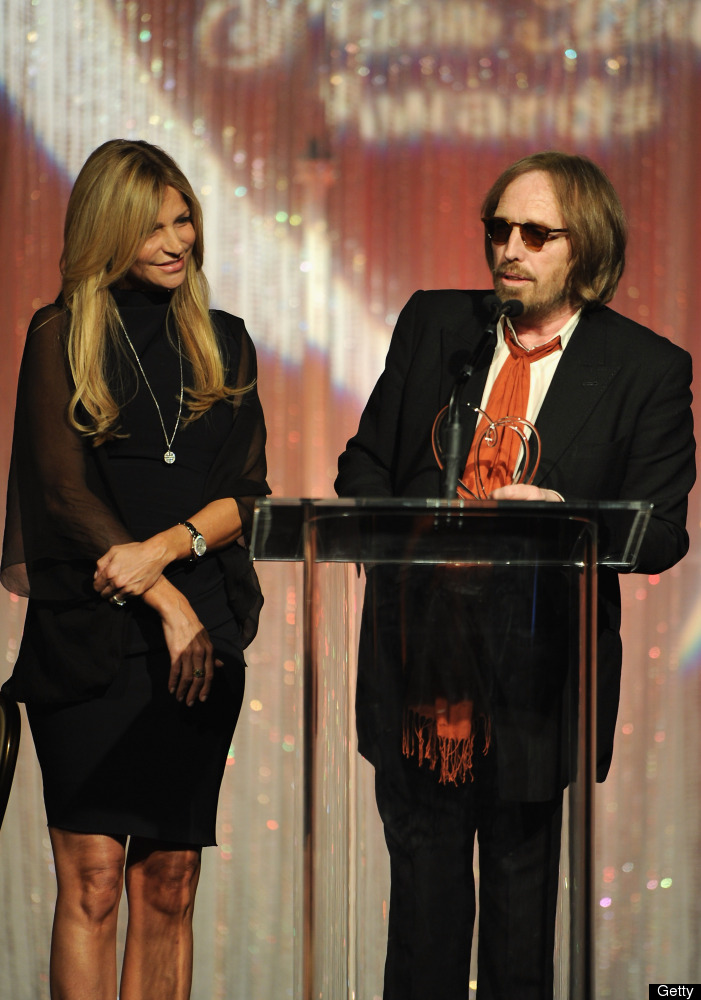 BEVERLY HILLS, CA - MAY 09:  Dana Petty and singer Tom Petty speak at The Midnight Mission's 11th Annual Golden Hearts Awards