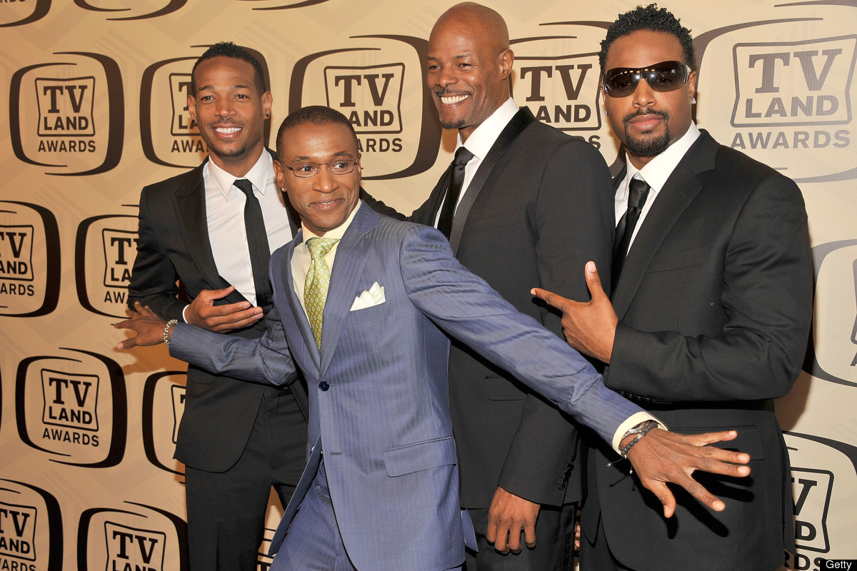 NEW YORK, NY - APRIL 14:  (L-R) Actors Marlon Wayans, Tommy Davidson, Keenen Ivory Wayans and Shawn Wayans attend the 10th An