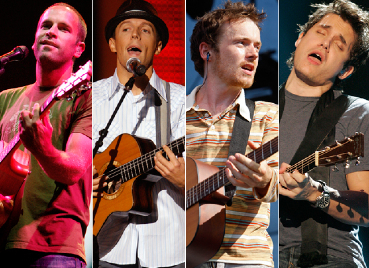 <strong>a) Jack Johnson  b) Jason Mraz  c) Damien Rice  d) John Mayer </strong>