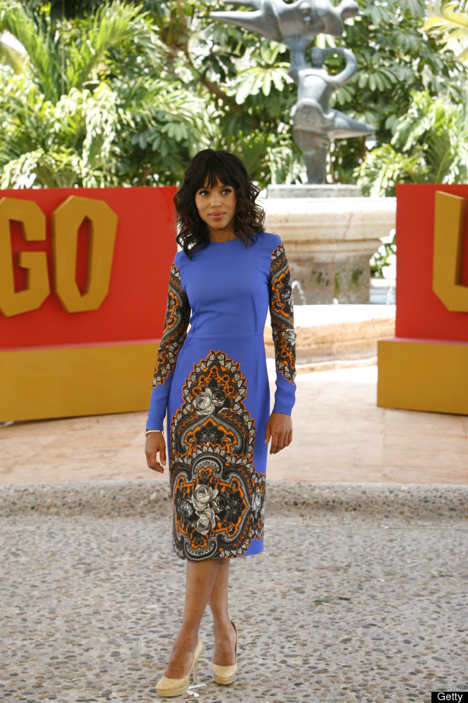 CANCUN - April 15: In this handout image provided by Sony,   Kerry Washington attends the 'Django Unchained'  photo call at S