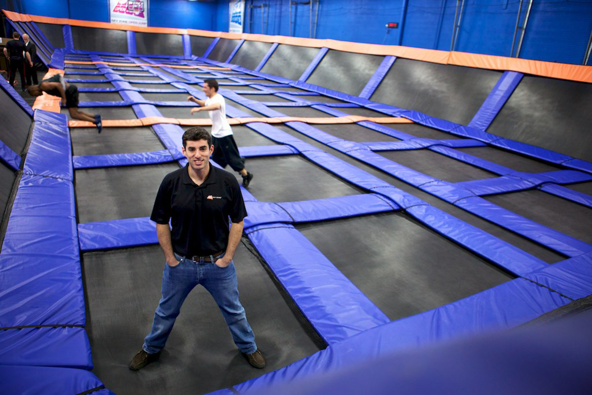 Jeff Platt at a Sky Zone park in Plymouth, Minnesota.