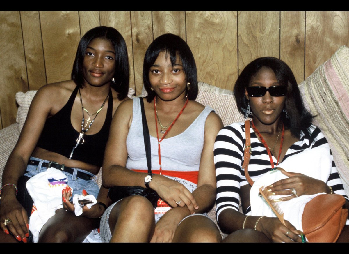 S.W.V. (Sisters with Voices) backstage at KMEL Summer Jam 1993 at Shoreline Amphitheatre on July 31, 1993 in Mountain View Ca