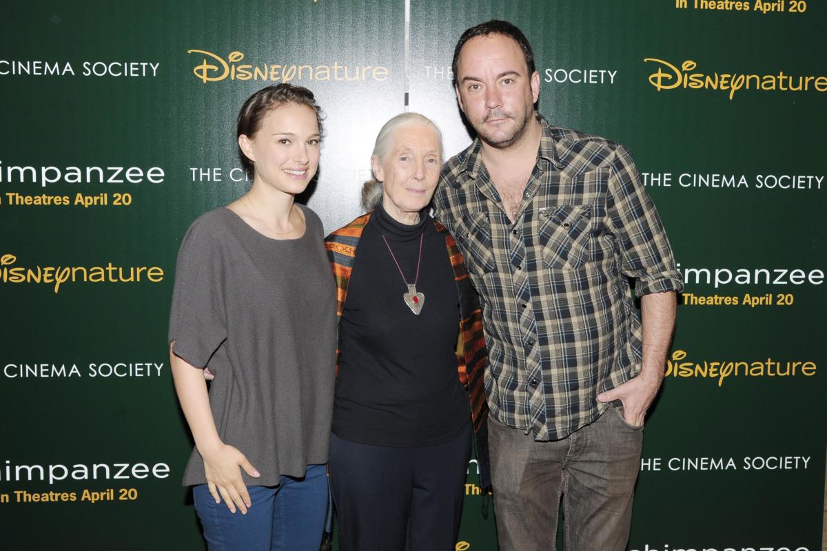 Natalie Portman, Jane Goodall, Dave Matthews