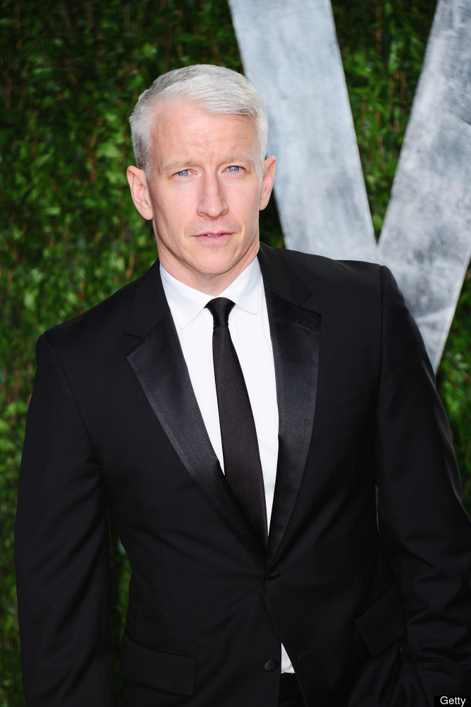 TV personality Anderson Cooper arrives at the 2012 Vanity Fair Oscar Party hosted by Graydon Carter at Sunset Tower on Februa