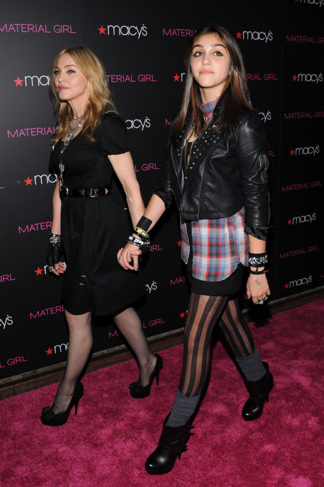 Madonna has adopted her daughter Loudres' rocker-chic style.
