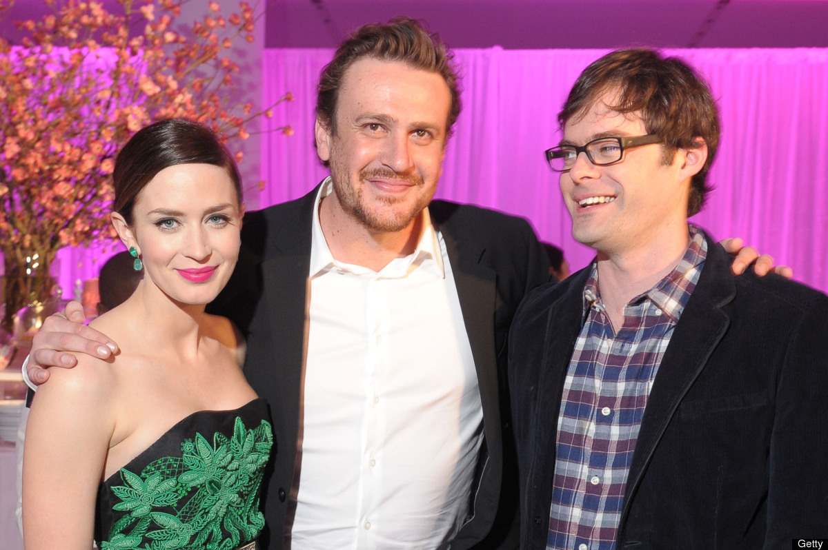 Emily Blunt, Jason Segel, and Bill Hader attend 'The Five Year Engagement' Premiere opening night party during the 2012 Tribe