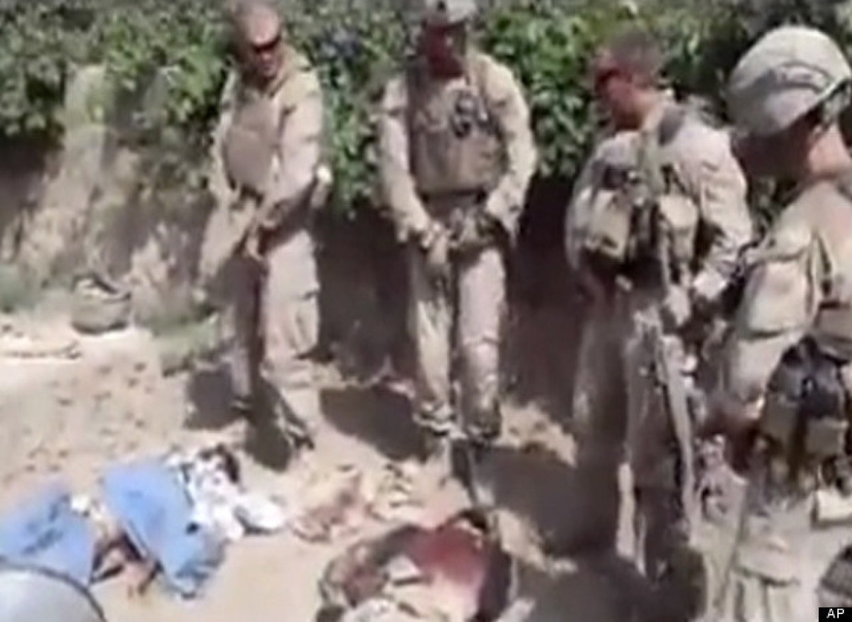 "In January, a video surfaced on YouTube that purportedly showed four U.S. Marines <a href=""http://www.huffingtonpost.com/2012"