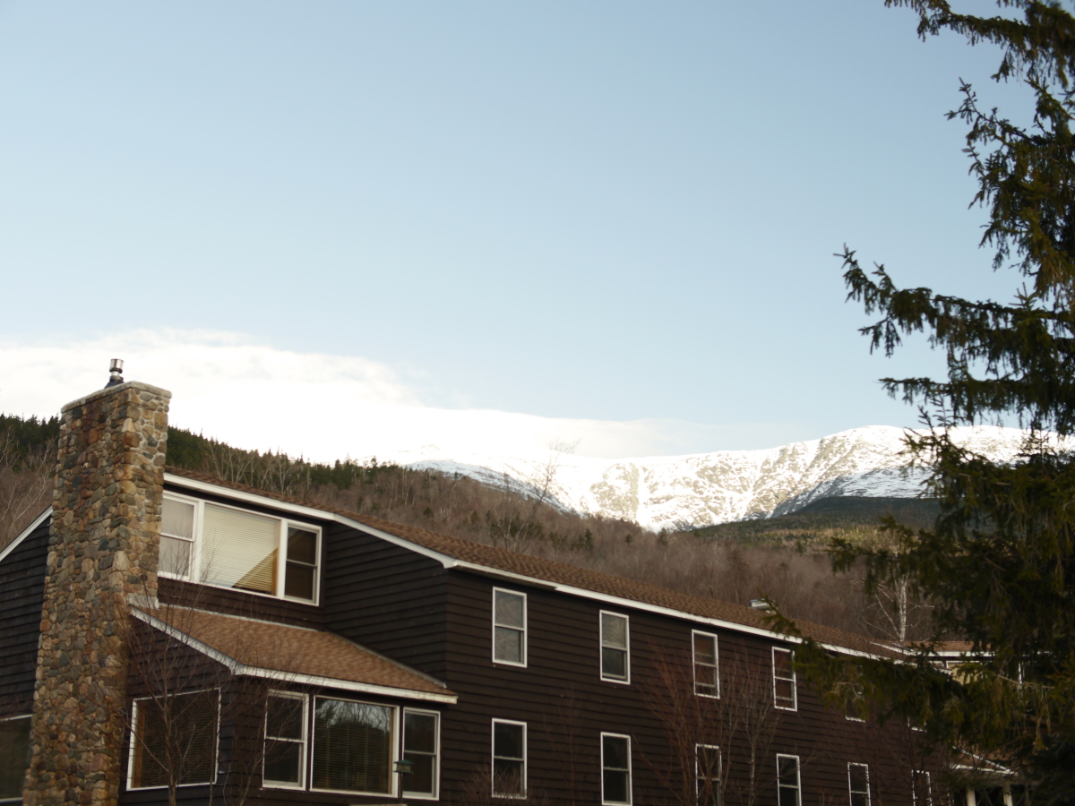 A view of the top of Mount Washington from our base.