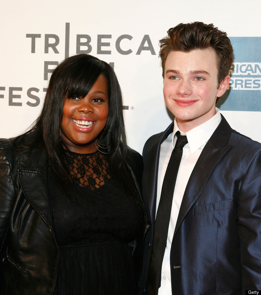 NEW YORK, NY - APRIL 21:  Actors Amber Riley and  Chris Colfer attend 'Struck By Lightning' Premiere during the 2012 Tribeca