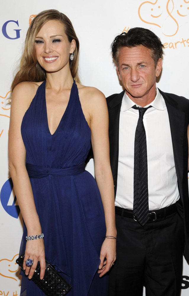 Petra Nemcova greeted honoree actor Sean Penn at the Happy Hearts Gala in 2011.