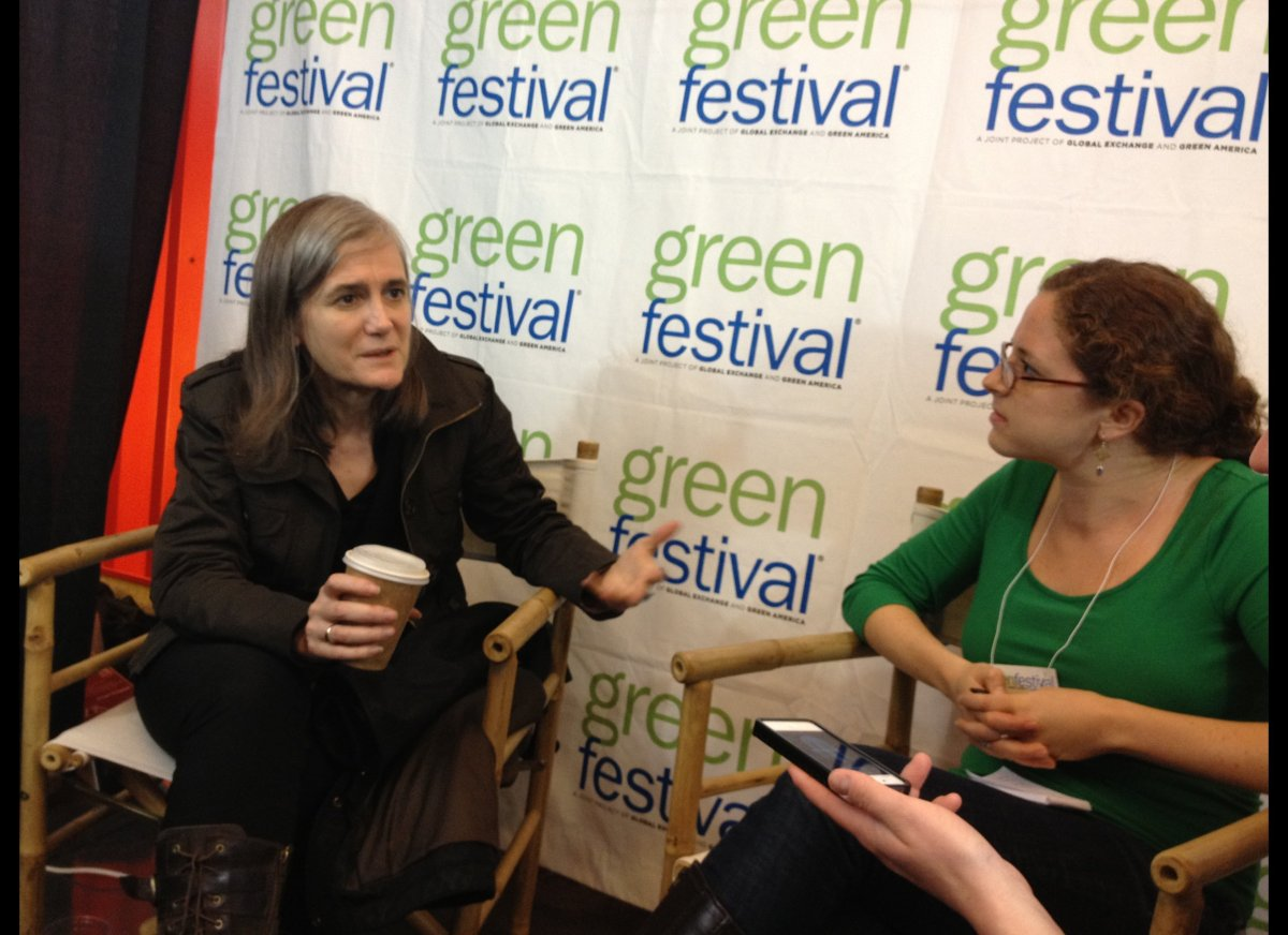 Amy Goodman of Democracy Now! serves as one of speakers at the Green Festival in New York City.