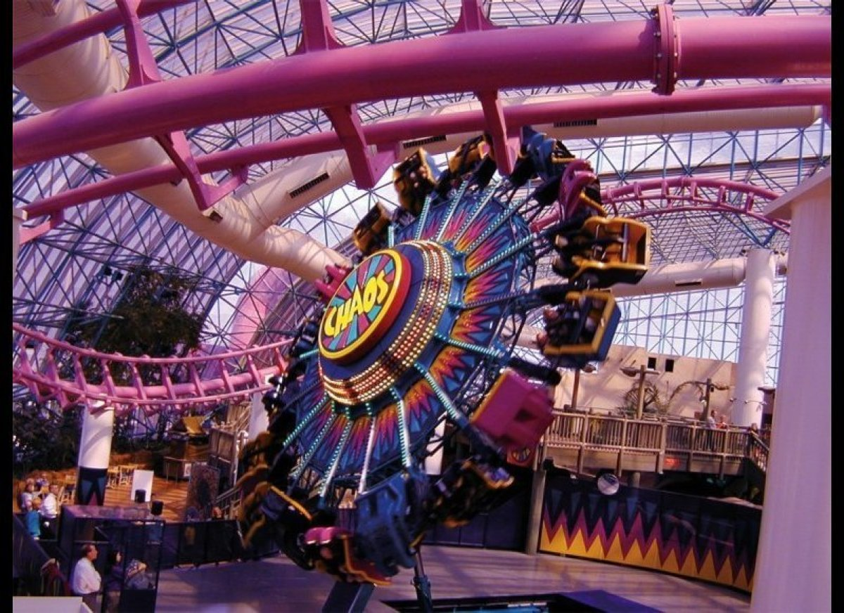 <b>Adventuredome at Circus Circus Hotel and Casino, Las Vegas NV</b>  Rapid motion and glass don't mix -- except in Vegas,
