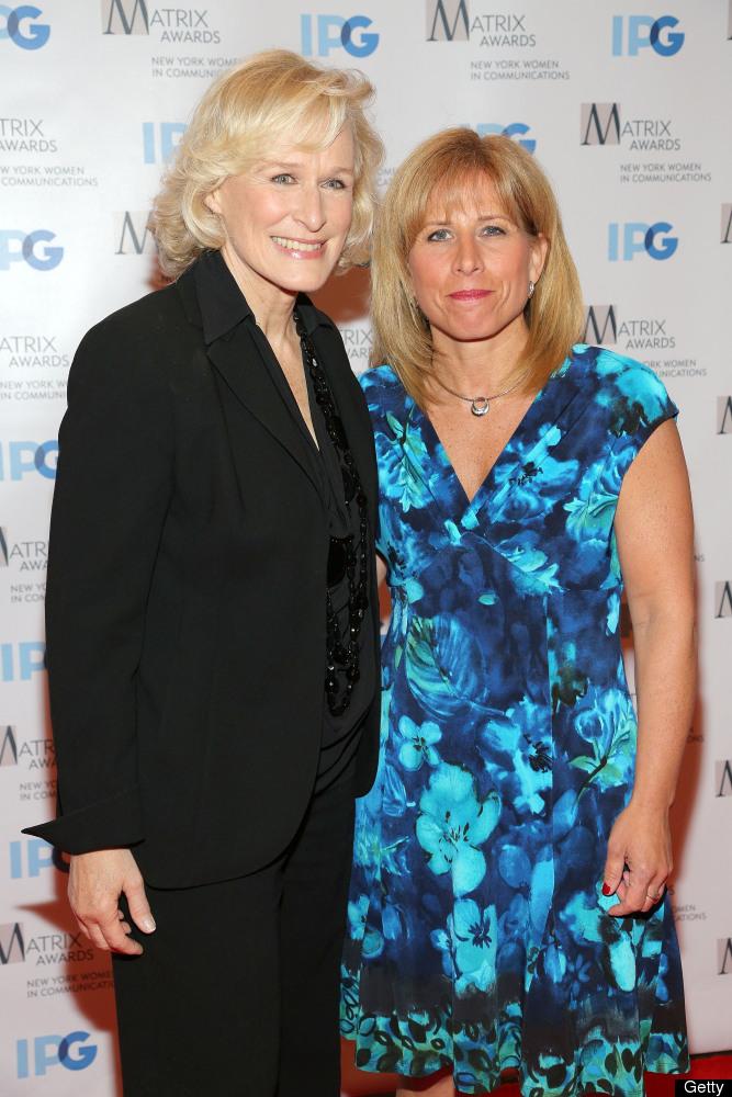 NEW YORK, NY - APRIL 23:  (L-R) Glenn Close and Deputy Chief Theresa J. Shortell attend the 2012 Matrix Awards Luncheon at Wa