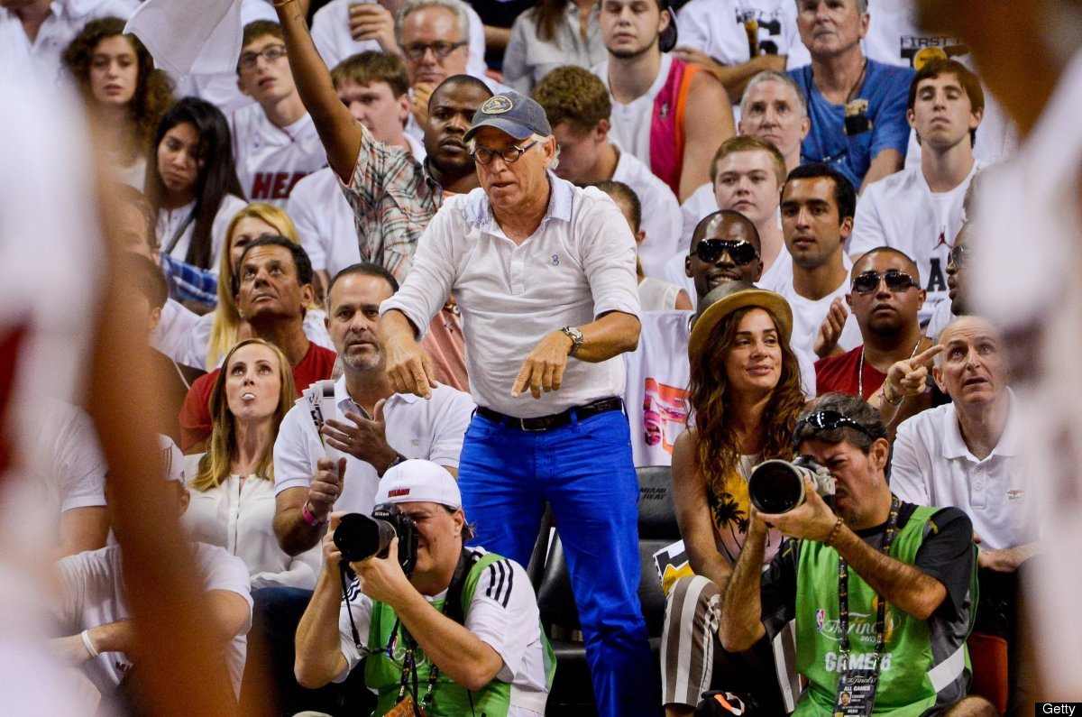 Jimmy Buffett cheered on the Heat during Game 6 of the 2013 NBA Finals, or did some sort of Frankenstein dance. Probably the