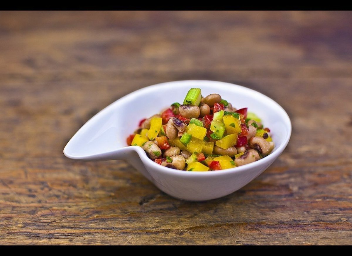 No, it's not something that comes from a fish. Texas caviar is just a fancy way of saying black-eyed peas, and it gets the st