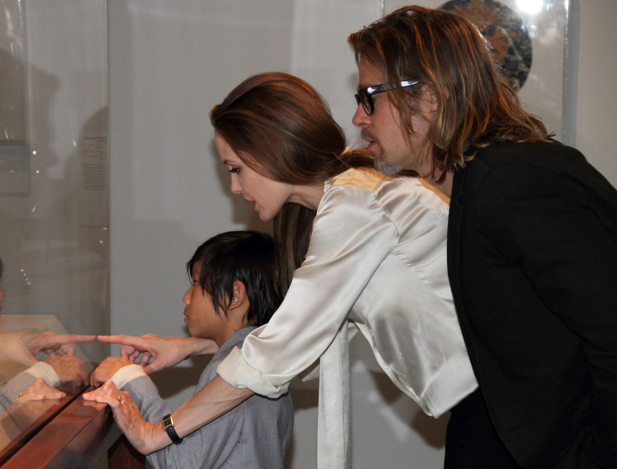 Angelina Jolie was first spotted wearing an engagement ring at this Los Angeles County Museum of Art event earlier this month