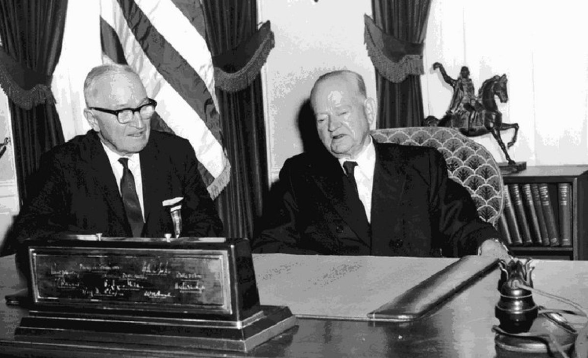 Truman secretly mailed a handwritten letter to Herbert Hoover in the spring of 1945, asking for his help with the humanitaria