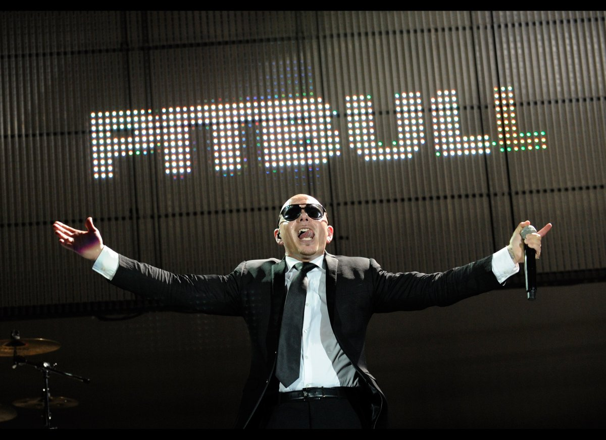 LAS VEGAS, NV - MARCH 30:  Armando 'Pitbull' Perez, winner of the BMI President's Award, performs during the 19th Annual BMI