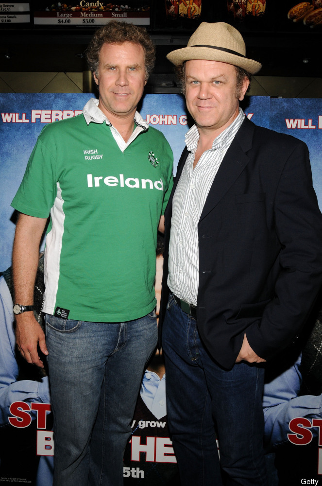 """The curly hair. The squinty eyes. The expert stupidity. Ferrell and Reilly may have played stepbrothers in """"Step Brothers,"""" b"""