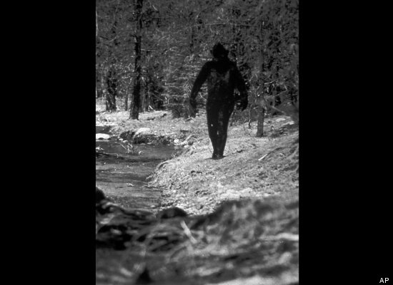 This still image taken from a 1977 film purports to show Bigfoot in California.