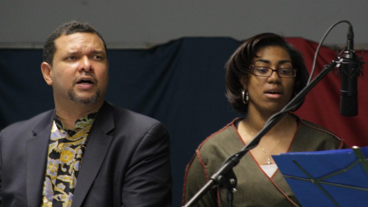 Jorge Lockward and Rev. Sheila Beckford lead worship at New Day United Methodist Church in the Bronx