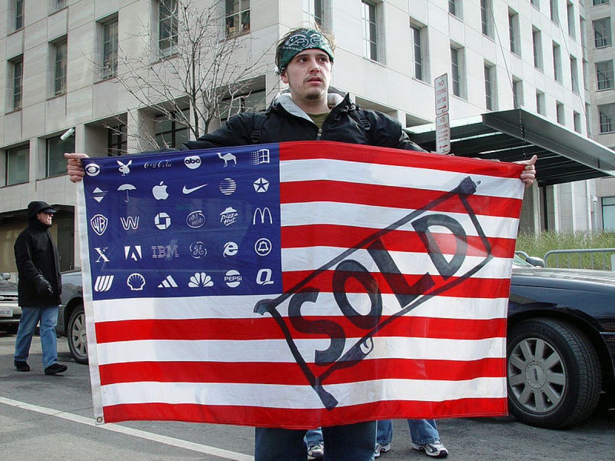 In mid-July 2011, the Canadian magazine <em>Adbusters</em> used two ads to promote the idea of a peaceful protest in New York