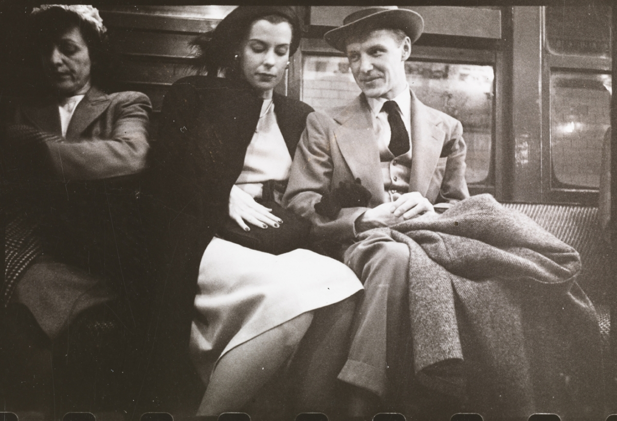 Stanley Kubrick. Life and Love on the New York City Subway. Passengers in a subway car. 1946. Museum of the City of New York.